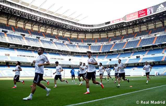 Real Madrid trénoval prvýkrát na Bernabéu