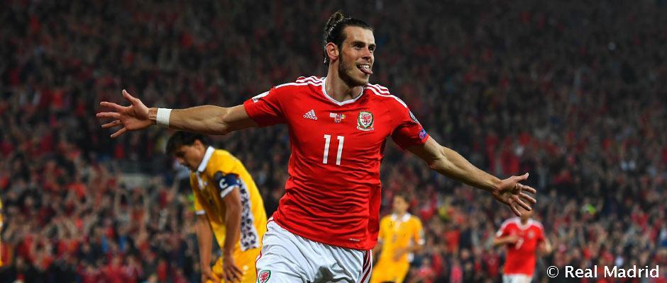 Gareth Bale trénoval s Walesom
