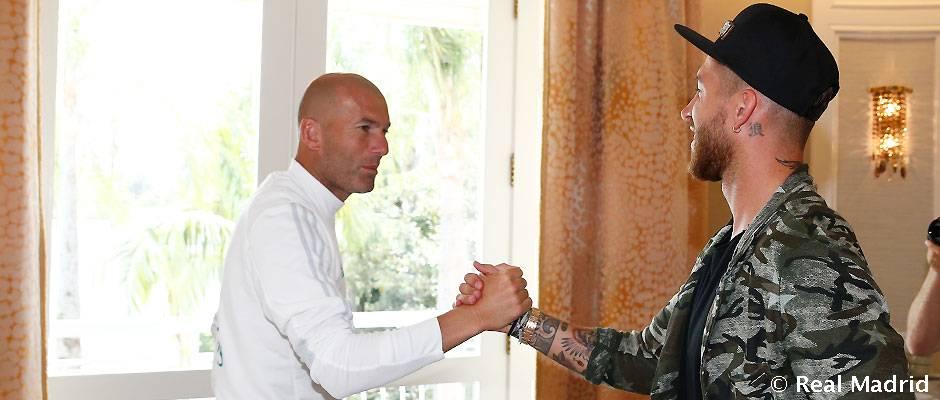 Zidane telefonoval Ramosovi hneď po úvodnej prezentácií