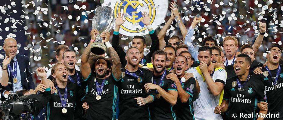 Real Madrid je prvý tím, ktorý dokázal vyhrať európsky Superpohár trikrát za štyri roky