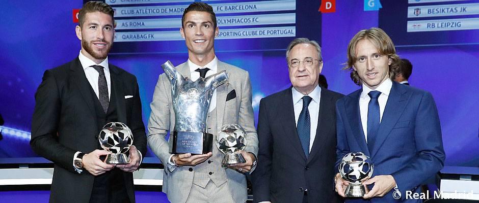 Real Madrid má najlepšieho obrancu, stredopoliara aj útočníka minulej sezóny Ligy majstrov
