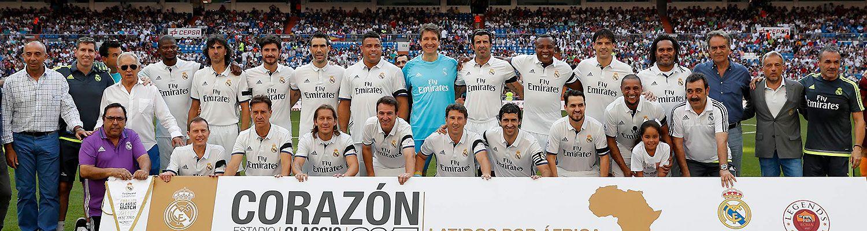 Súboj legiend Realu Madrid aArsenalu vCorazón Classic Match 2018