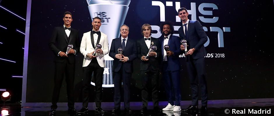Sergio Ramos, Marcelo, Raphael Varane a Luka Modric v najlepšej jedenástke FIFA WORLD 11