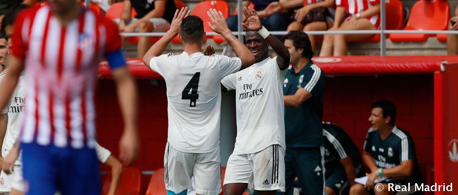 🎥 Castilla si delila body s Atléticom B, o góly sa postaral Vinicius Jr.