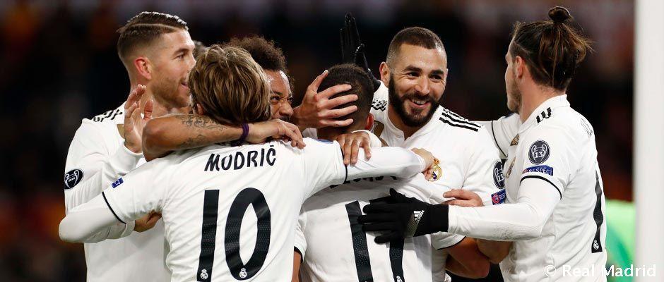VIDEO Real Madrid v Ríme bodoval naplno a postupuje do osemfinále z prvého miesta