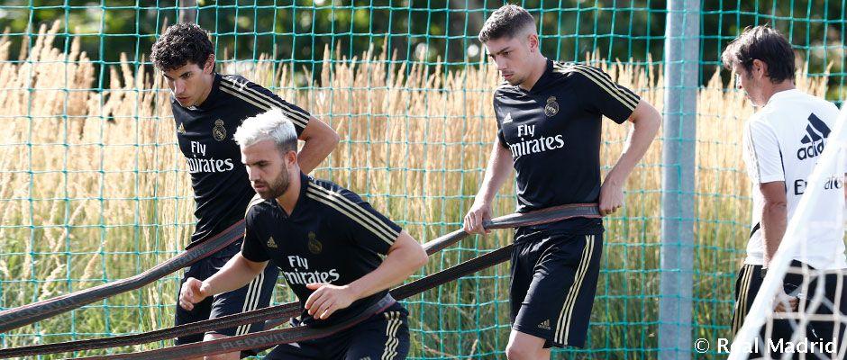 Valverde, Vallejo a Mayoral začali trénovať, zatiaľ s Castillou