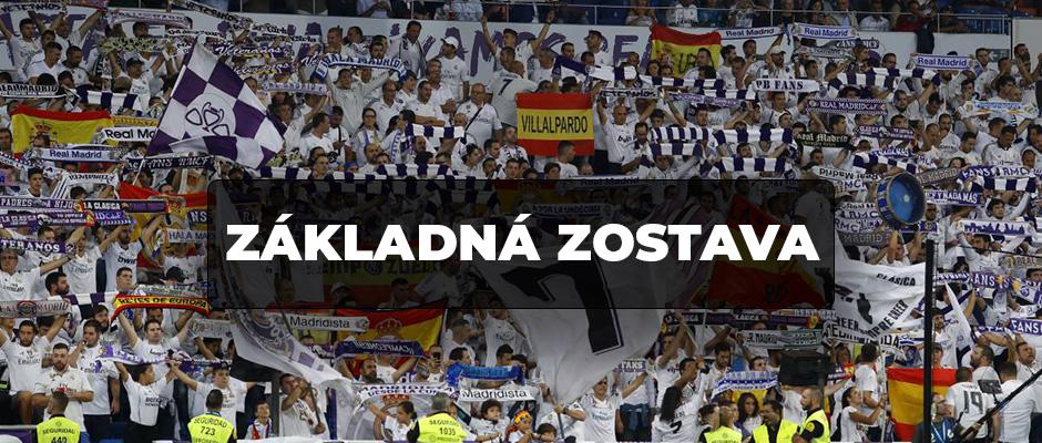 ZÁKLADNÁ ZOSTAVA : Real Madrid - Espanyol
