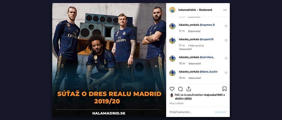 SÚŤAŽ: Vyhraj dres Realu Madrid 2019/20!