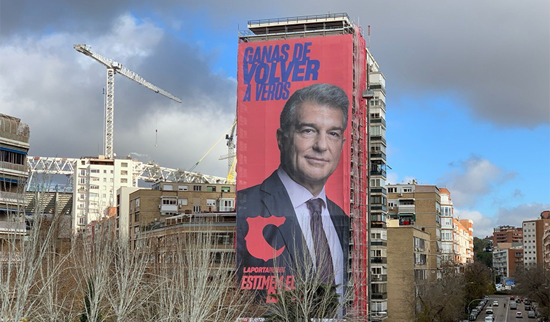 Kandidát na prezidenta Barcelony pozdravil Madrid
