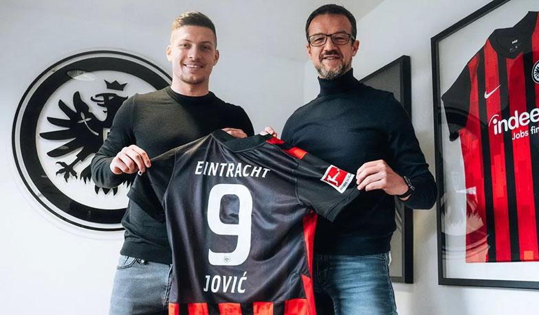 Luka Jovic sa vrátil a dal dva góly